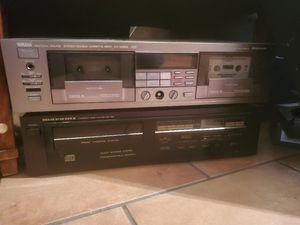 Marantz cd player and yamaha double cassette deck for Sale in Scottsdale, AZ