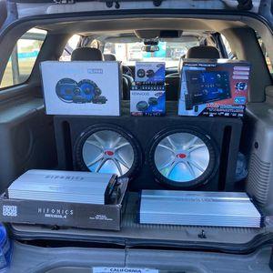 Venta Instalación De Equipo De Sonido Amplificadores Subwoofers for Sale in Bellflower, CA