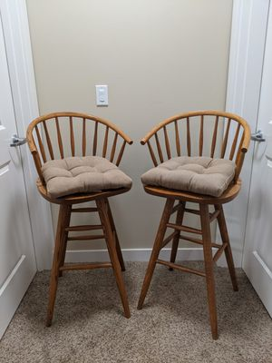 Wood, swivel bar stool chairs 2 for Sale in Prineville, OR