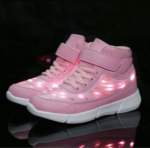 Size 5 youth Energy LED light up shoes high top flashing sneakers for Girls #2 for Sale in Bakersfield, CA