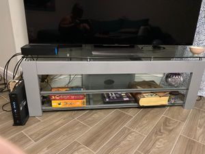 Glass tv stand- Tv not included for Sale in Hialeah, FL