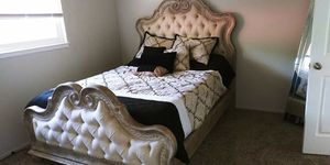 $1500 4 months old 4 pieces Queen size Pulaski bedroom set with new mattress #{contact info removed} for Sale in Fresno, CA