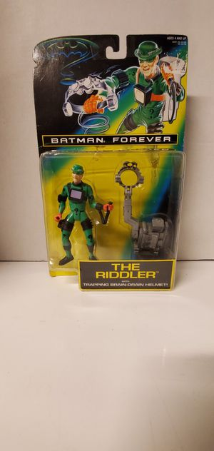 RIDDLER Batman Forever Action Figure Kenner 1995 Trapping Brain-Drain Helmet NEW for Sale in Vancouver, WA