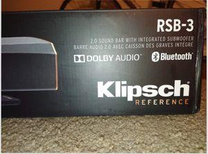 Klipsch 2.0 sound bar system for Sale in Tempe, AZ