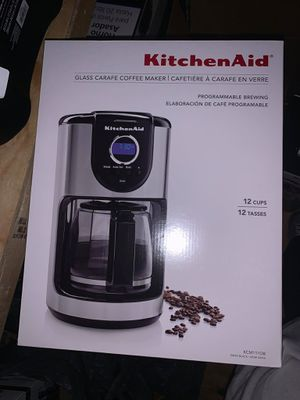 KitchenAid 2-Cup Glass Carafe Coffee Maker -Brand New - $90 obo for Sale in Concord, NC