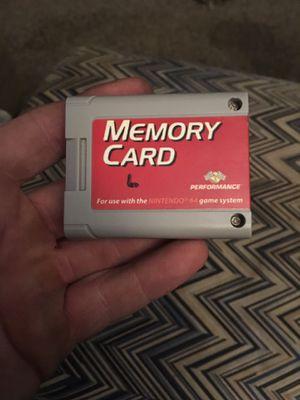 Vintage Nintendo 64 Memory Card for Sale in Wichita, KS
