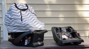 2 Britax B Safe Car Seats & Bases & Car Seat Cover for Sale in Everett, WA