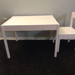 Kid's Blush Wooden Table And a Chair for Sale in Roswell, GA