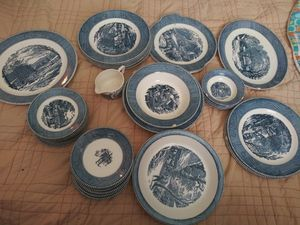 "Royal Currier & Ives China The Old Grist Mill pattern"" Vintage for Sale in Dunedin, FL"