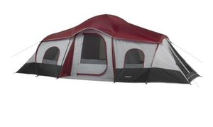 NEW!! 10-person 3 room cabin tent red, camping equipment, large tent for Sale in Tempe, AZ