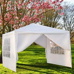 (NEW) Outdoor Canopy, Party Wedding Tent, Sunshade, Gazebo Pavilion Removable Sidewalls Thicken Steel Tube (10' x 10' Removable Sidewalls White) for Sale in Phoenix, AZ