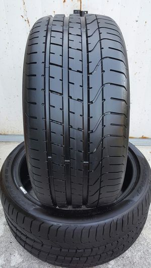 (2) 245/45/20 PIRELLI P-ZERO USED TIRES CHEVY DODGE TRUCK JEEP SUV for Sale in Tampa, FL