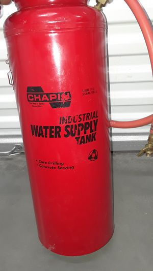 Industrial water supply tank core drilling concrete sawing 3.5 gallons 13.2 L made by Chapin for Sale in Portland, OR