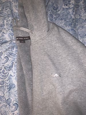 Michael Kors Grey Hoodie Fur Size Medium for Sale in Chicago, IL