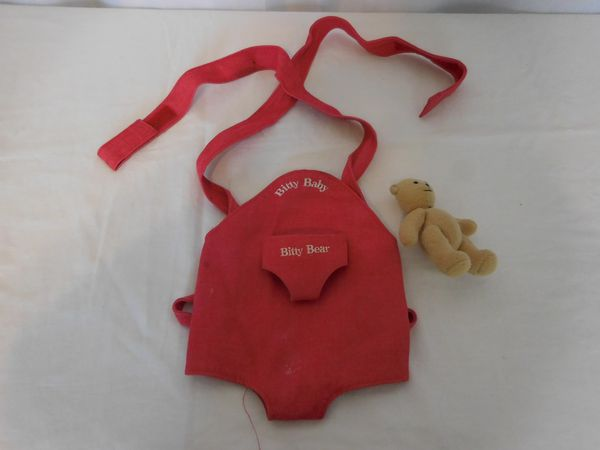 American Girl Bitty Baby Doll Bitty Baby Bitty Bear Carrier With Bear Rare