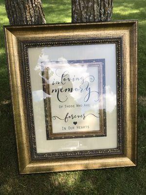 In loving memory frame for Sale in Pine River, MN