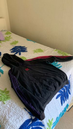 Adidas Pink/Purple striped hoodie Size L for Sale in Hercules, CA