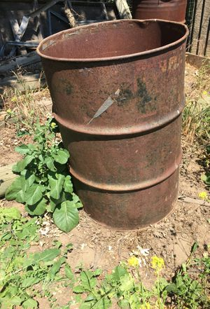 3 - 50 gallon metal drums for Sale in Paso Robles, CA
