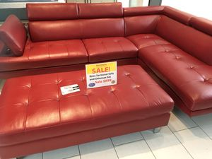 COMFY NEW IBIZA SECTIONAL AND OTTOMAN SET. AVAILABLE IN RED AND GRAY. FALL SALE EVENT BLOWOUT!!! SAME DAY DELIVERY! NO CREDIT CHECK FINANCING WITH ON for Sale in St. Petersburg, FL