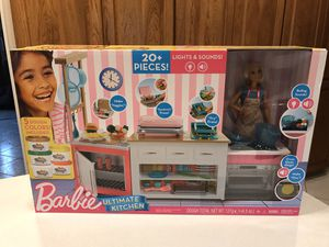 New Barbie Ultimate Kitchen Set for Sale in Downers Grove, IL