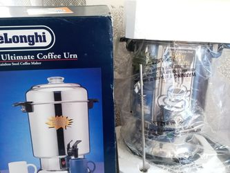 New DeLonghi DCU60 Coffee Urn Pot Stainless Steel 20 - 60 Cup for Sale in Costa Mesa,  CA