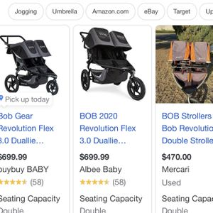 BOB Revolution Double Stroller for Sale in Darien, CT