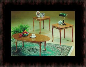 3pc coffee table oak for Sale in Fairfax, VA