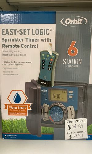 Sprinkler timer with remote control for Sale in West Linn, OR