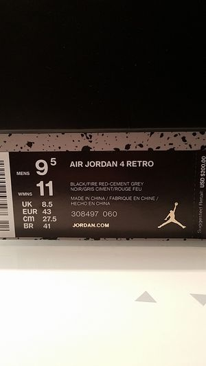 Jordan 4 Retro Bred (2019) for Sale in Fairfax, VA