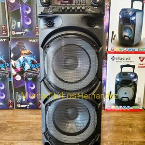 "Bocina Bluetooth Speaker 2 Wireless 🎤 9800 Watts Nueva 2 x 10"" WOOFERS SUPER BASS🔊 Rechargeable 🔋 for Sale in Los Angeles, CA"