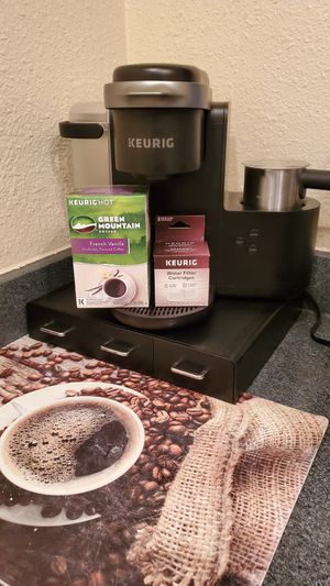 Keurig K Cafe Coffee Maker K Cups with Water Filter for Sale in Barefoot Beach, FL
