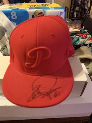 Chan Ho Park Signed Phillies Hat for Sale in Abington, PA