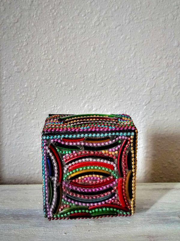 Small Fully-Beaded Trinket Box