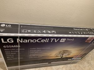 """LG 65"""" SM8600 4K LED TV (brand new sealed in the box better than Sony or QLED) for Sale in Huntington Beach, CA"""
