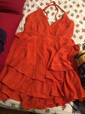 Orange short dress for Sale in PT CHARLOTTE, FL