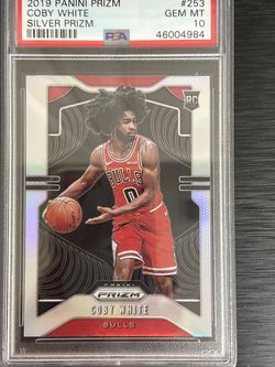 2019 Panini Silver Prizm #253 Coby White Chicago Bulls RC Rookie PSA 10 GEM MINT for Sale in Tacoma,  WA