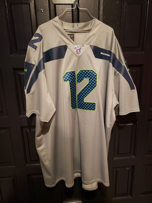 Attn big boys i got impossible to find seahawks 5x and 6x jerseys get them fast for Sale in Fircrest, WA