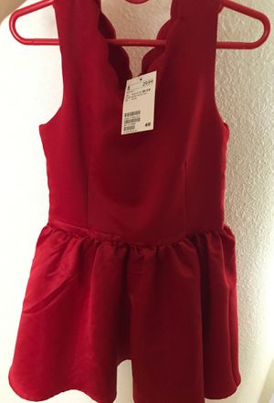 New H&M little girls red dress Size 10-11 Y for Sale in Pinole, CA