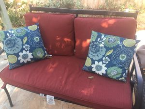 Patio furniture pillows (blue pillows only) for Sale in San Diego, CA