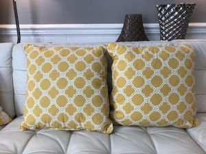 Pillow ,Yellow, Gold, 2 Couch Pillow or Bed Pillow for Sale in Henderson, NC