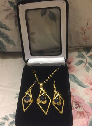 Gold necklace and earrings for Sale in Austin, TX