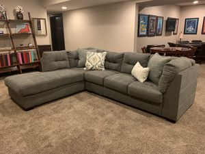 Like new! Grey sectional couch! Put in basement for staging but never used. for Sale in Frankfort, KY