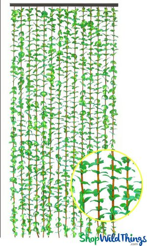 2- Bohemian green floral door curtains for Sale in Chula Vista, CA