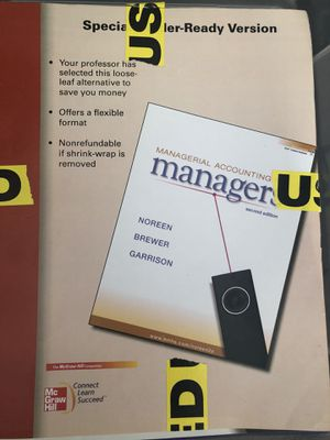 Book/textbook: managerial accounting for Sale in Chicago, IL