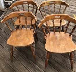 4 Solid Oak Vintage Chairs for Sale in Silver Spring,  MD