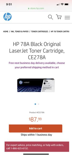 Hp 78A Toner cartridge for Sale in Chino, CA
