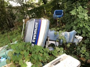 (15ft) 40hp evinrude 40 outboard motor for Sale in Lorain, OH