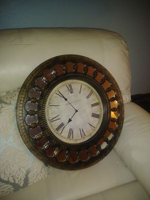 "23"" tuscan mirror old world wall clock for Sale in Apopka, FL"