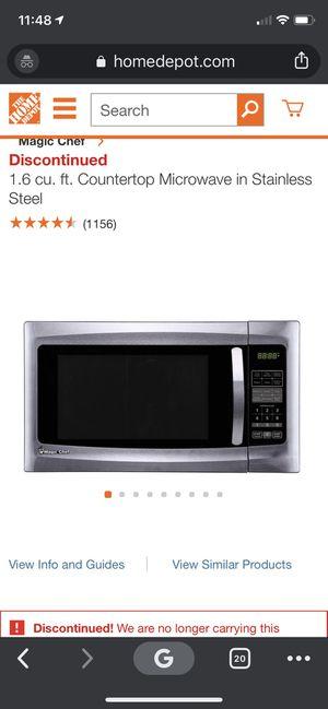 Magic Chef Microwave 1.6cu ft for Sale in Haymarket, VA