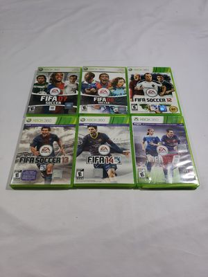Lot of 6 Microsoft Xbox 360 FIFA Soccer Games: 07 08 12 13 14 16 fast shipping for Sale in Winter Springs, FL